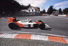 ALAIN PROST firmata 12x8 F1 McLaren-HONDA MP4/4 BELGIUM GP SPA 1988