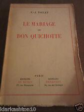 Toulet: Le Mariage de Don Quichotte/ éditions du Divan