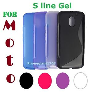 S-line Wave Silicone TPU Gel Back Case Cover For Various Motorola Phone