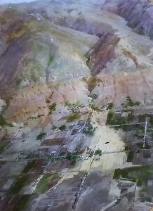 1930 Flood Damage in Parish Canyon in Centerville UTAH Magic Lantern Glass Slide