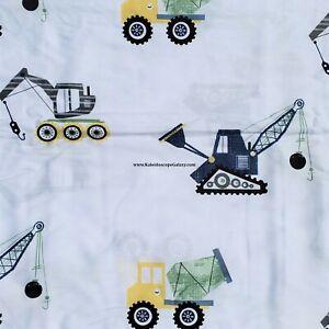100% COTTON Construction Sheet SET ~ SIZE FULL ~ Tractor Bulldozer NEW