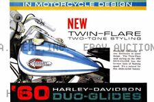 Harley Davidson Duo Glide Poster 1960 motorcycle print 8 x 10 print prent 2