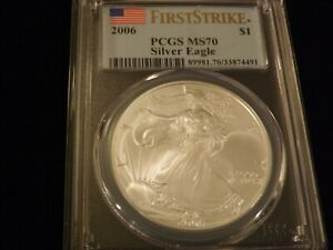 2006  $1         Eagle     First Strike       PCGS MS 70