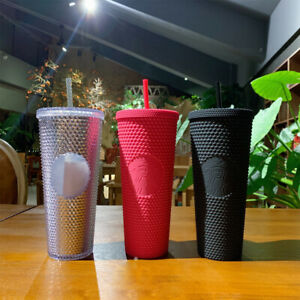 Starbucks Tumbler Bling Diamond Studded Straw Cold Cup NEW,710ml/24oz