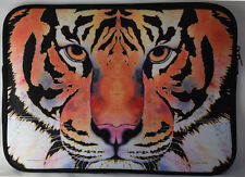 Tiger Face Laptop Carrying Case Sleeve by Michael Ward. Design: Handle only (no