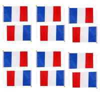 12pcs French Hand Waving Flags National Flag Of France  Olympic NEW