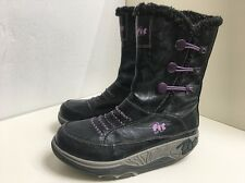 DG2 MINT Ladies Fit For Fun Black Keep Fit Shoes Toner Trainers Boots Size 5 38
