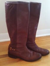 Cole Haan size 10 tall brown leather and ultra suede riding boots Adler style 16