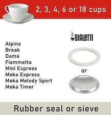 Bialetti 2 3 4 6 18 Cups Loose Spare Seal Gasket Filter Ricambi Moka Dama Mini