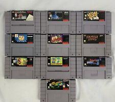 SNES Super Nintendo Game Lot 10 Games Taz Frogger Dracula Animaniacs & More