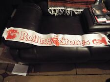 RARE VINTAGE 1981 ROLLING STONES SCARF TOWEL CONCERT TOUR   BANNER !!