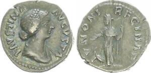 Denar, Silber 176 Antike / Römische Kaiserzeit / Faustina Filia (43966)
