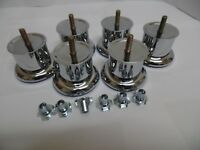 Quality Metal CHROME FURNITURE LEGS FOR SOFA, STOOLS, , CHAIRS 50mm x 50mm
