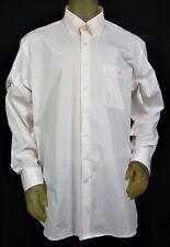 Barry Bricken Weekend Men's XXL White Check Long Sleeve Shirt Cotton Blend