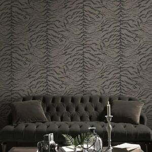 Boutique Tiger Taupe Animal Print Wallpaper (Was £25)