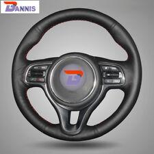 BANNIS Black Leather Steering Wheel Cover for Kia K5 2016 Sportage 4 KX5 2016