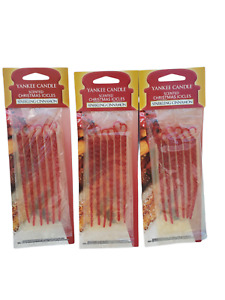 3 Pack (18 pc) Yankee Candle Sparkling Cinnamon Scented Icicles Tree Ornaments