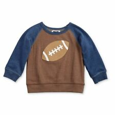 NWT Mud Pie All Boy Football Brown Sweatshirt Sweater 2T/3T 4T/5T