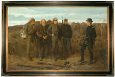 Winslow Homer Prisoners -Brown Gallery Framed Canvas Print Repro 23x34