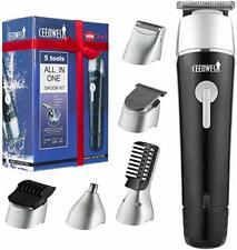 CEENWES Updated Version 5 in 1 Waterproof Man's Grooming Kit Hair Clippers Pr...
