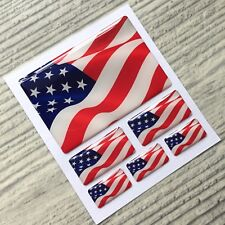 American US Flag domed stickers decal emblem Dodge, Chrysler, Ford, Acura
