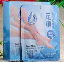 2 PAIRS EXFOLIATING FOOT MASK Care Peeling Dead Skin Hard Callus Gel Treatment