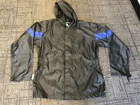 Mens Himalaya Motor Bike Black Waterproof Rain Gear Wear Motorcycle Jacket XS