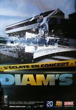 """DIAM'S - Affiche poster 70x100 """"Tournée S.O.S."""" (2009) - RAP Hip Hop - Rare !"""