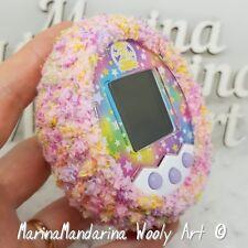Tamagotchi M! X Mix 4u IDL P 's Friends caso caso de Navidad bola de nieve de ganchillo rosa