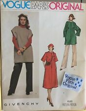 Vogue Givenchy Uncut Paris Original Pattern 1980's Cloth Label Factory Folds Sm