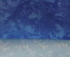 Rose & Hubble Blue Marble/Batik 100% Cotton Fabric Sold by the Half Metre