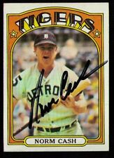 1972 Topps #150 Norm Cash AUTOGRAPHED SIGNED 1968 Detroit Tigers NICE BOLD AUTO!