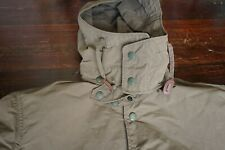 NWT | ENGINEERED GARMENTS MEDIUM OLIVE PARKA COTTON REMOVABLE HOOD LEATHER