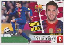 N°07 JORDI ALBA  # ESPANA FC.BARCELONA STICKER PANINI ESTE LIGA 2014