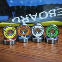 8pcs 4 color mixed Stainless Steel Skateboard Ball Bearings 608ZB ABEC-11
