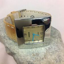 Chico's Women's Watch CH-245 Camel Leather Band Silver-tone Face