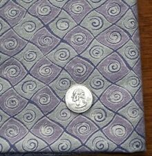 Vintage Feed Sack Quilting Fabric PURPLE Lavender & Gray SWIRLS Snails