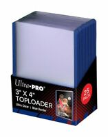 (25) Ultra-Pro Blue Border ACEO Toploaders 3x4 Topload Art Trading Card Holders
