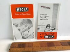 1960S HECLA ELECTRIC BLANKETS VITA-RAY BATHROOM HEATERS VINTAGE SALES BROCHURES!