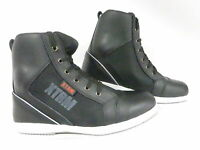MOTORCYCLE MOTORBIKE SCOOTER XTRM 804 SHORT TOURING CITY URBAN BOOTS  BLACK