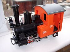 LGB MARKLIN 90470 G SCALE MODEL RAILWAY ORANGE STEAM LOCOMOTIVE with LIGHTS