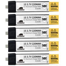 5pcs Boldclash 3.7V 220mAh 50C Lipo Upgrade Battery for Inductrix Tiny Whoop MCX