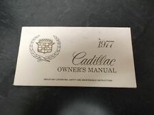 1977 Cadillac Eldorado Owner Manual User Guide Coupe Convertible 7.0L 8.2L