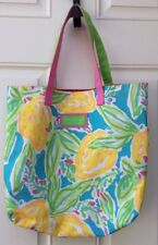 Lilly Pulitzer for Estee Lauder Tote Bag Beach Floral Fruit Pastel Shopper