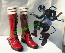 Blue Exorcist Rin Okumura Red Halloween Long Cosplay Shoes Boots H016