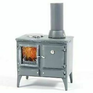 1/12 Scale Dolls House Emporium Wood Burning Kitchen Stove with Chimney 5759