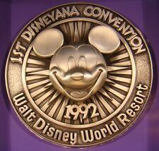 Premiering 1st Disneyana Convention 1992 Walt Disney World Pewter Coin-Only 1200