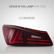 Pair LED Red Lens Tail Lights Rear Lamp Fit For 2006-2012 Lexus IS250 IS350 IS F