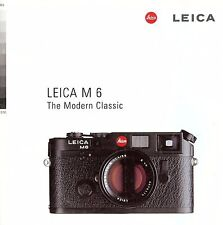 1996 LEICA M6 RANGEFINDER CAMERA FACTORY BROCHURE -from 1996