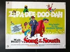 """Song of the South (R1973) - Original Half Sheet Movie Poster - 28"""" x 22"""" - EX+"""